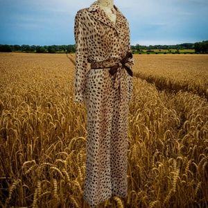 RK essentials leopard print jumpsuit vintage 1970s